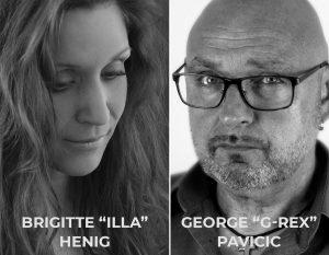 "George Pavicic und Brigitte ""Illa"" Henig"